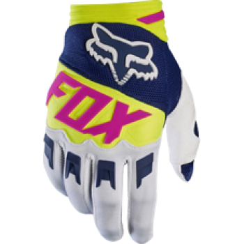 FOX Dirtpaw Race Handschuh navy/weiß